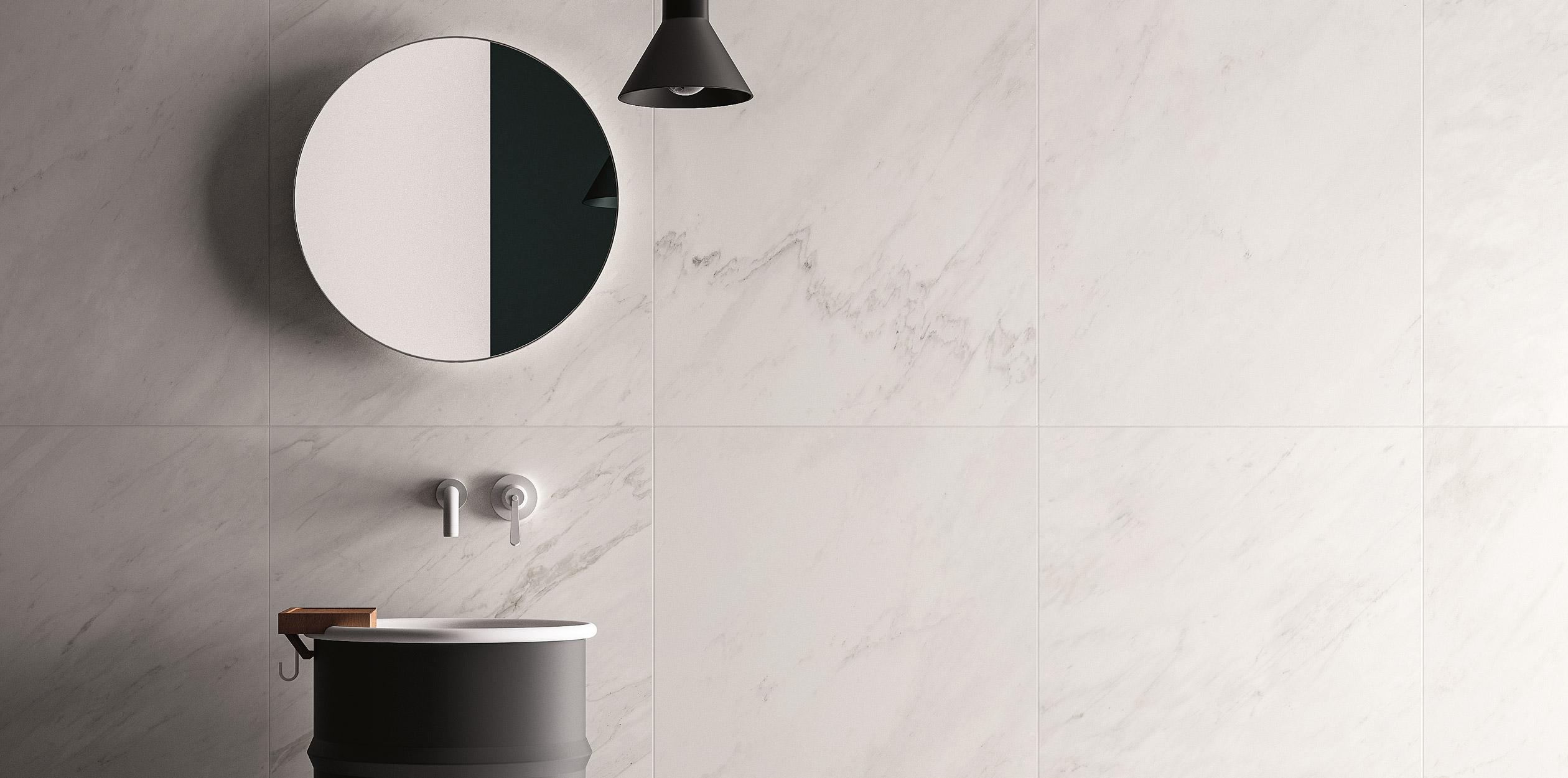 Large Format Marble Look Porcelain Tiles
